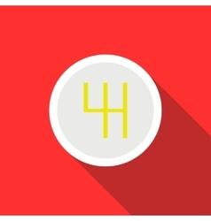 Gearbox schematics icon flat style vector image
