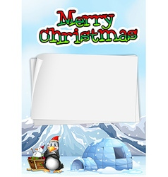 Paper template with chistmas theme vector