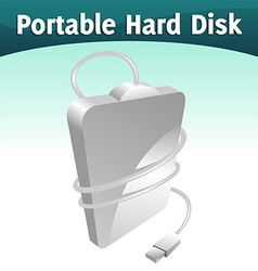 portable hard disc vector image vector image