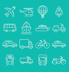 transportation icons and signs vector image
