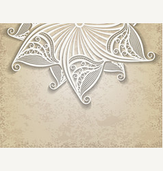 vintage background with half of lace decorative vector image