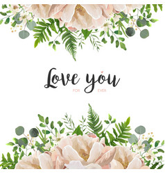 card floral flower bouquet design with peach pink vector image vector image