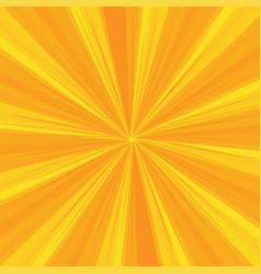 rays pattern with yellow light burst stripes sun vector image