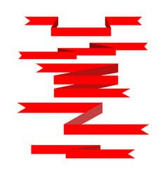 ribbon red award vector image vector image