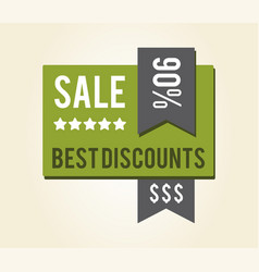 sale best discounts sticker vector image