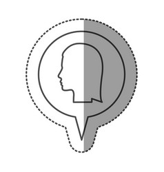 sticker monochrome of circular speech with vector image vector image