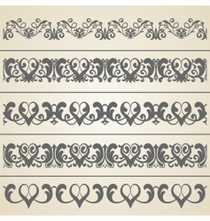 decorative borders set vector image vector image