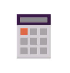 flat calculator icon vector image