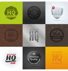 High Quality emblems and signs vector image vector image