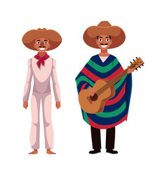 mexican man in traditional national sombrero and vector image vector image