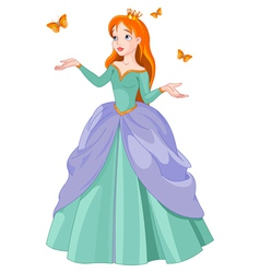 Princess and butterflies vector image vector image