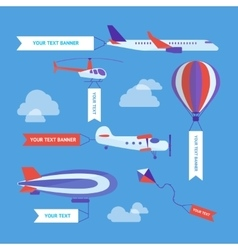 Air Vehicles Banners Set vector image