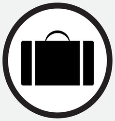 Case icon monochrome black white vector image vector image