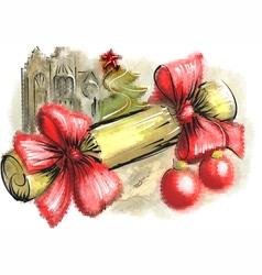 christmas cracker vector image vector image
