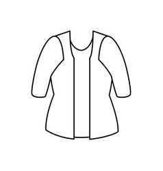 female clothes isolated icon vector image vector image