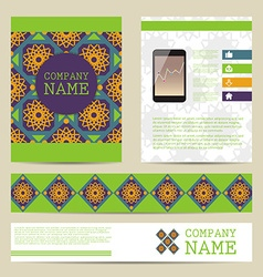 Set of Flyer design business templates vector image