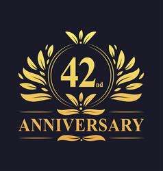 42nd anniversary logo 42 years anniversary design vector