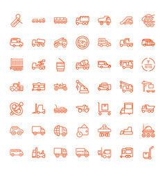 49 truck icons vector image