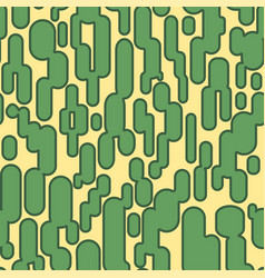 abstract opuncia cacti seamless pattern vector image