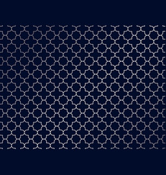 abstract silver moroccan pattern on blue vector image