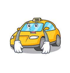 Afraid taxi character mascot style vector