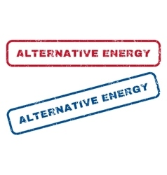 Alternative Energy Rubber Stamps vector