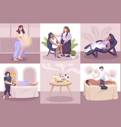 Alternative medicine flat compositions vector