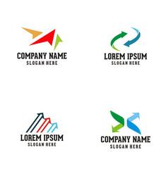 arrow logo design vector image