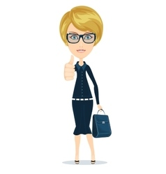 attractive young woman in elegant office clothes vector image