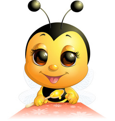 Beautiful cute bee vector