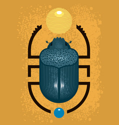Beetle scarab - a symbol ancient egypt vector