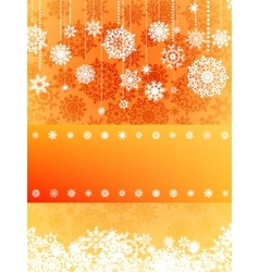 Beige christmas with snowflake EPS 8 vector image