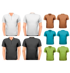 Black and white and color men t-shirts Design vector image