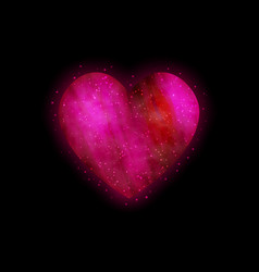 bright glowing heart vector image