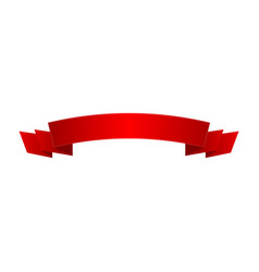 bright red shiny ribbon isolated icon vector image