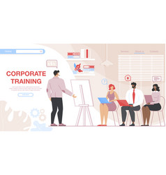Business people attending corporate training vector