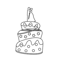 cake wedding icon vector image