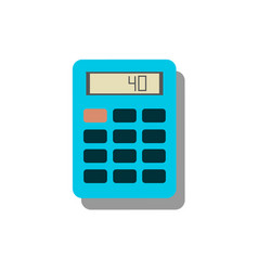 Calculator icon savings finances sign vector