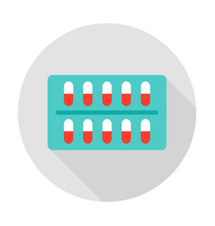 capsules pack circle icon vector image