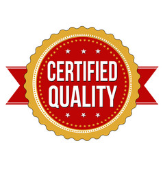 certified quality label or sticker vector image
