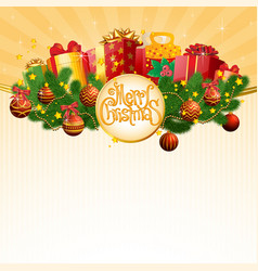 christmas gift in decorated boxes vector image vector image