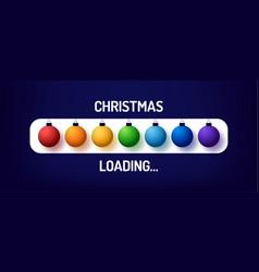 Christmas rainbow progress bar with inscription vector