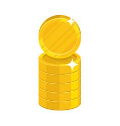 Column gold coins cartoon icon vector