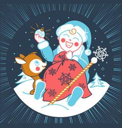 concept of santa claus baby vector image