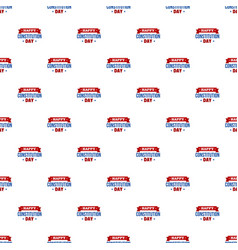 constitution day badge pattern seamless vector image