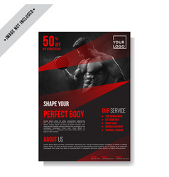 fitness gym flyer template vector image
