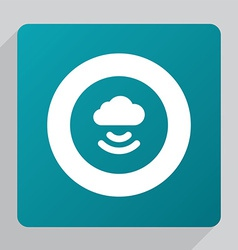 flat connect cloud icon vector image