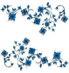 Floral curl decoration vector