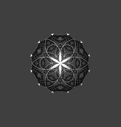 flower life symbol sacred geometry 3d logo sign vector image