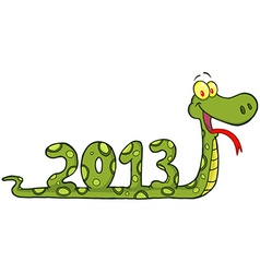 Funny Snake Cartoon Character vector image
